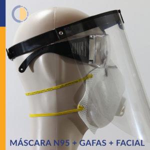 COMBO Máscara N95 + Gafas + Facial